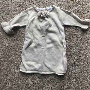 Gold knit baby girl dress